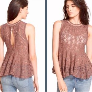 Free People Masie Lace Tank